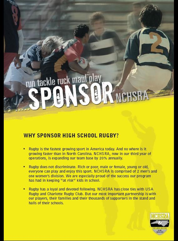 North Carolina High School Rugby Sponsorship Program